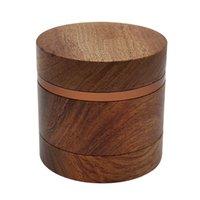 Moulin d'herbe en bois de classe en gros pour fumer Concasseur de tabac 63mm 4 couches par air wy1434