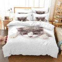 Bedding Sets Cute Cat Animal Duvet Cover Bed Linen Bedclothes Queen Size Luxury Room For Kids Gifts