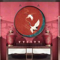 Antigo tradicional chinês chinês vermelho-coroado guindaste zen canvas poster pintura imagem de parede imprimir casa para sala de estar escritório deco