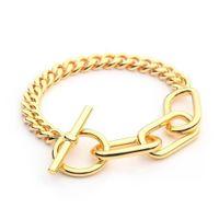 Varole link corrente pulseiras pulseiras para mulheres cor ouro espessura corrente pulseira moda jóias