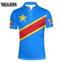 자이르 남성 청소년 맞춤형 이름 번호 ZAR 폴로 셔츠 국가 ZA 콩고 국가 프랑스어 인쇄 사진 캐주얼 의류 210329