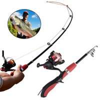 Boat Fishing Rods 1.2 1.6M Rod And Reel Set Casting Carbon Ultra Light With Mini Spinning Reels Glass Fiber