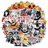 60PCS Mixed Halloween Christams Theme Stickers Waterproof Cartoon Graffiti Artistic Decals Skateboard Snowboard Motorcycle Bike Laptop Pad Notebook Sticker
