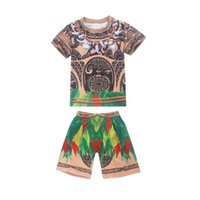 Theme Costume Moana Maui Costume Cosplay Tattoo T Shirt Shorts kids Boys Halloween Party Cosplay Costumes Dress