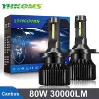 Yhkoms CANBUS 80W 30000LM H4 H7 LED Faro del coche H1 Bulbs H3 9005 9006 H8 H9 H11 H16 H16 5202 9004 9007 H13 880 881 9012 D2 D4