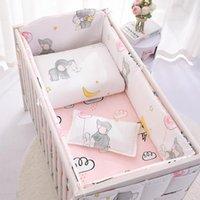 Bedding Sets Baby Set 100%Cotton Cartoon Crib Bed Bumper Borns Sheet Duvet Cover Child Protector Washable Cot