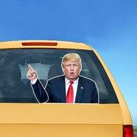 만화 귀여운 미국 대통령 선거 자동차 조 바이덴 트럼프 앞 유리 스티커 와이퍼 스티커 편리하고 실용적인