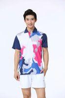 Badminton Wear Sets für Männer Weiß Rosa Outdoor Bekleidung Sport Set ST1366