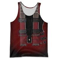 Men's Tank Tops Fashion Summer Vest Musical Instrument Electric Guitar 3D Full Print Men And Women Harajuku Leisure Sports