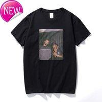 Drake and Travis Scott Vintage Style t Shirts for Men Arrival Harajuku Streetwear Rapper Tshirts T-shirt