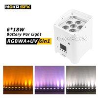 Batterie Par Light DJ Upligant LED par LED Effects 6x18W Batterie Utilisez la lumière DMX DMX Contrôle de téléphone mobile Stage Éclairage Batierery Par CAN