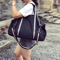 contrast 2021 new Korean color Fitness stripe casual hand simple practical luggage short distance travel bag