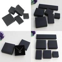 Vintage Bayan Takı Hediye Kutusu Çeşitli Tipi Siyah DIY Kraft Kağıt Kolye Küpe Yüzük Bilezik Kılıf Ambalaj Kutuları 1 3LS10 L2