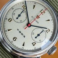 Cronógrafo esportes relógios mecânicos militares para homens piloto gaivota st1901 movimento relógio homem luxo safira y