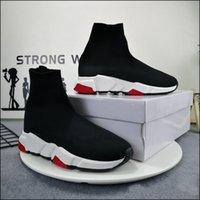 Uomo donna casual scarpe calzino 1 2.0 camminata per scarpe da passeggio velocità trainer originale paris lady nero bianco calzini di pizzo rosso sneakers sportivi sneakers di alta qualità stivali trasparenti di sole dimensioni 35-45
