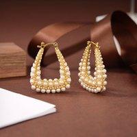 Ds 2020 New Vintage Pearl Earrings Womens Oumeidis Internet Hot Sterling Silver Needle Earrings