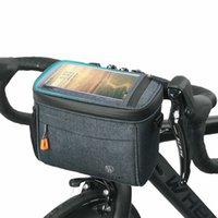 자전거 핸들 바 가방 전면 프레임 스토리지 팩 TPU 터치 스크린 상단 최대 6.7 인치 CB08