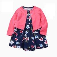 Né Bébé Baby Girls Vêtements Vêtements De Bambin Robes Babe Girl Cardigan Body Robe 2021 Spring Summer Vêtements Outfit Girl's
