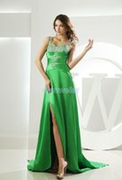 Bridesmaid Dress Famous Long 2021 Couture Beaded Vestidos Formales Mint Green Prom With Crystal Stones Dresses