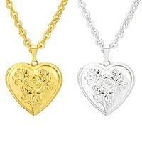 Цепи плавающие медальон ожерелье старинные сердечные кулонные ювелиры цепные женщины девушки подарки