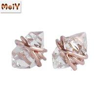 2021 Fabbrica Commercio all'ingrosso New Fashion Trendy Metal in lega di metallo orecchini coreano in stile creativo versione coreana womens in lega di metallo orecchini
