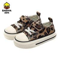 Babaya Baby Girl Shoes Otoño Corte de leopardo de bajo corte Patrón de moda Niños salvajes Niñas Bebé Casual Lienzo zapatos 1-3 años 210326