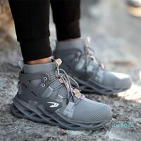 AGILESTAR Нескользящие рабочие ботинки Неразрушимые туфли Новые Дышащие мужчины Безопасная обувь Стальная носячая точка прокола рабочая кроссовки
