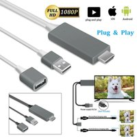 Universal HDTV Cable Plug and play TV-Out Adapter Digital AV 1080P USB 2.0 TO Type C Micro 5pin 1M