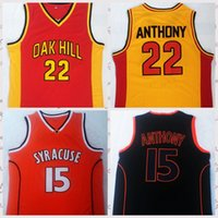2021 Vintage Hommes Retro Classic Basketball Jersey Oak 22 Hill Anthony 15 Chemises Syracuse Respirant Short Blanc Blanc Blanc Taille S-2XL