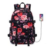 School Bags women's Oxford cloth travel bag outdoor leisure student schoolbag printing waterproof Backpack