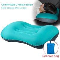 Coussin d'oreiller gonflable Camping Camping Garantie de couchage Coussin de couchage en plein air TPU TPU lombaire pour tampons