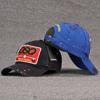 2021 بيع أيقونة رجل مصمم القبعات casquette d2 الفاخرة التطريز كاب قابل للتعديل 7 قبعة اللون وراء الرسالة