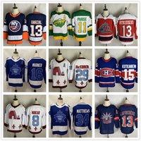Discount Hockey Jerseys Camisas Hóquei 29 Mackinnon 88 Burns Pastrnak 13 Barzal Lafeniere Atkinson 16 Marner 11 Parise 8 Makar Atacado 71 Foligno 88 Burns 77 OSHIE