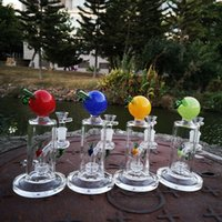7 Inch Heady Glass Bongs Unique Bong Straight Type Hookahs Fruit Pattern Peach Shape Oil Dab Rigs 14mm Female Joint Showerhead Perc Water Pipes With Bowl DHL20093