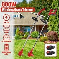 Portable Grass Trimmer Cordless Lawn Grass Cutter with Batteries Garden Mowing Power Tool Kits Electric Grass Cutter Machine 210430
