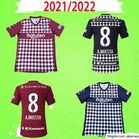 21 22 J1 Liga Vissel Soccer Janeiro Japão 2021 2022 Home Away Camisa de Futebol Uniforme Uniforme Gotocue A.iniesta David Villa Podolski Samper Iniesta