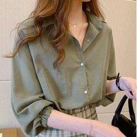 Vintage Women Shirts Blusas Roupa Spring Autumn Blouse Loose Long Sleeve Womens Blouses Female Tops Plus Size Women's &