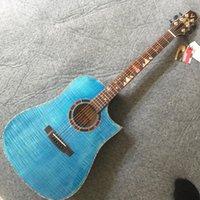 2021 Vinida Katı Ladin Akustik Gitar 41-inç Gülağacı Klavye Real Abalone Kakma Navlun ücretsiz.