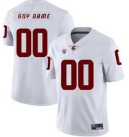 Profesyonel Özel NCAA Kolej Formaları Washington State Cougars Jersey Logo Herhangi sayıda Sayı ve Ad Tüm renkler Erkek Oyuncu Giymek Futbol Gömlek A0