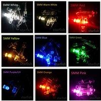 Beads de luz 100 pcs LED SMD 5mm / F5 branco-w / azul / vermelho / amarelo / verde / quente branco-WW / laranja / rosa / roxo-uv lâmpada curta