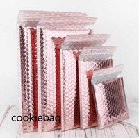 2021F Express Bubble Envelop Bag Logistics packaging Rose Gold Foil Mailer Gift Packaging Wedding Favor Film Candy bags