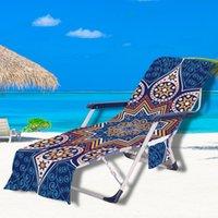 Copertura per sedia da spiaggia 32 colori Coperte salotto portatile con asciugamani cinturino colore geometrico