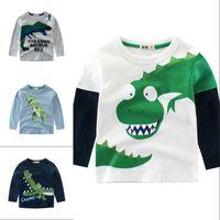 Meninos camiseta Tops de manga comprida criança meninas meninas crianças crianças moda de algodão outono primavera primavera carro para 2 3 4 5 6 7 8 anos 1156 x2