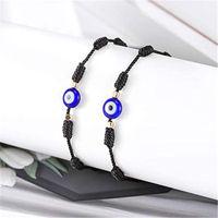 Charm Bracelets 2021 Trendy Evil Eye For Women Handmade Black Red String Thread Rope Blue Eyes Couple Bracelet Lucky Jewelry Gift