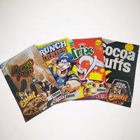 2021 Vuoto infuso Chips Cereale crunch Berries Mylar Bags Runtz Flamin Canna Burro Viaggi Ahoy Medicato EDIbles Confezione dei cookie dei cookie Pacchetto