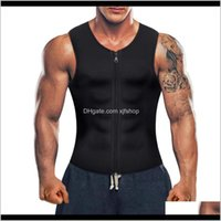 Clothing Exercise Wear Athletic Outdoor Apparel Sports & Outdoorsblack Mens Neoprene Sauna Suit Waist Trainer Corset Body Shaper Zipper Tank
