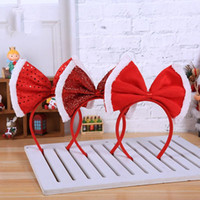 Christmas Decorations Headband Women Girl Santa Xmas Hair Band Clasp Headwear Head Hoop Party Hairband Bow Princess Tiara