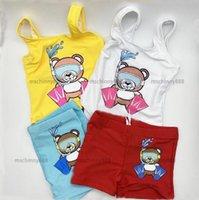 아기 소녀 한 조각 한 조각 수영복 브랜드 편지 패턴 인쇄 키즈 Bikinis 정장 여름 유아 어린이 수영복 수영
