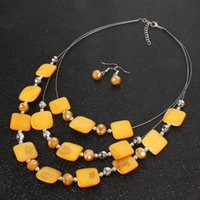 Schelpen Ketting Wild Multilayer Bohemia Beads Choker Gem Crystal Necklace Statement Pendants Jewelry For Women Chains