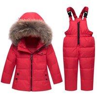 Down Coat Winter Jacket Jumpsuit Baby Boy Parka Fur Girl Clothes Children Clothing Set Toddler Thick Warm Overalls Snowsuit